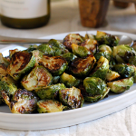 Roasted Brussels Sprouts with Honey-Balsamic Glaze - Two of a Kind