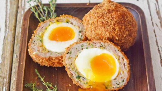 Crispy Scotch Eggs with Runny Yolk - Scruff & Steph