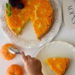 Easy Eggless Upside Down Orange Cake -