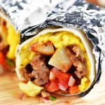 Southwest Breakfast Burritos - The Gunny Sack