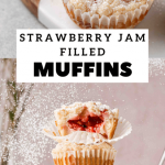 Strawberry Jam-Filled Muffins with Streusel Topping - Lifestyle of a Foodie