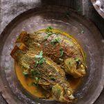 Shorshe Bata Diye Tilapia Macher Recipe - Bengali Tilapia Fish Curry