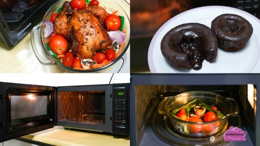 Toshiba Microwave MM-EM25P with Defrost, Auto Cook & Memory functions for  various recipes   oo-foodielicious