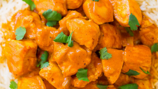EASY RECIPE 30 MINUTES INDIAN BUTTER CHICKEN RECIPE WITH RICE - 1001 Cooking