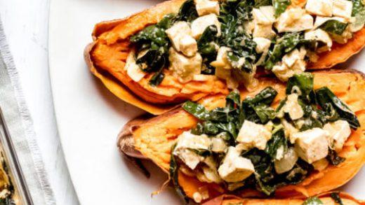 Vegetarian Stuffed Sweet Potato | Abra's Kitchen