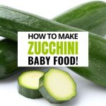 How to Make Zucchini Baby Food - Keep Calm And Mommy On