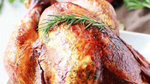 Turkey Recipe: Aromatic Lemon, Apple, and Herb Turkey | Tangled with Taste