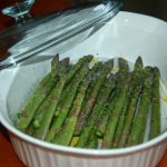 Steamed Asparagus   Microwavable Trick – A Hint of Ginger