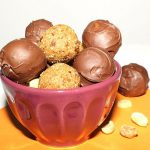 Chocolate Covered Peanut Butter Bites   Healthy Hacks