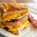 Bacon and Egg Grilled Cheese Sandwich Recipe | Food Channel