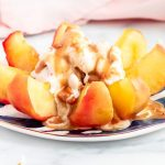 Baked' Apple In The Microwave with Caramel Sauce - The Plant Riot