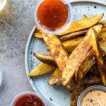 Crispy Oven Baked Potato Wedges - Foodness Gracious