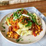 Vegan Loaded Baked Potatoes - Munchyesta