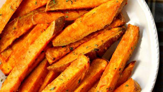 Simple Baked Sweet Potato Fries (5-ingredient)
