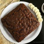 Vegan Chocolate Mocha Banana Cake - CurryandVanilla