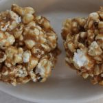 Peanut Butter Popcorn Balls - The Lazy Vegan Baker