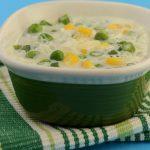 Quick Creamy Vegetable Soup ( Microwave Recipe )