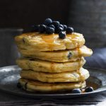 Blueberry Pancakes {Made with Sourdough Starter} - I Am Homesteader