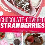 Pink & White Chocolate Covered Strawberries - In the Kids' Kitchen