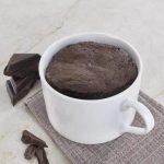 Chocolate Peanut Butter Fondant Mug Cake - Feed Your Sole