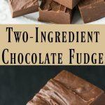 Easiest Ever Two-Ingredient Chocolate Fudge Recipe