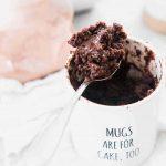 The Moistest Chocolate Mug Cake - Mug Cake For One or Two - No Eggs!