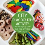 City Play Dough Activity: Easy Play Idea Plus Free Printable Accessories