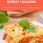 Cooking – How To Freeze And Reheat Lasagna – Bert's Blog