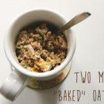 "Micro-Baking: Easy 2-minute ""Baked"" Oatmeal! | Maryseeo"