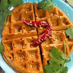 Kothimbir Vadi Waffle