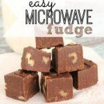 Easy Microwave Fudge Recipe {3 Minute Fudge}