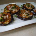 Microwaved Aubergine Slices – My Home Tastes