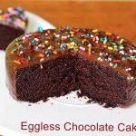 Eggless chocolate cake recipe - Swasthi's Recipes