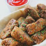 Baked Fish Sticks (Gluten-Free made with Flax Meal) -