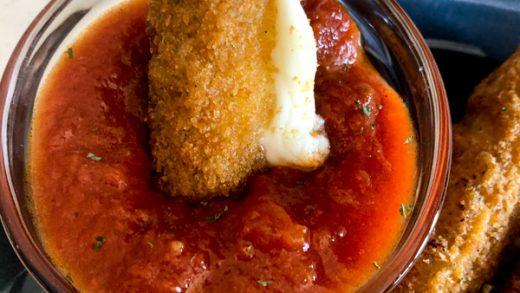 Air Fryer Frozen Mozzarella Sticks - Recipe Diaries