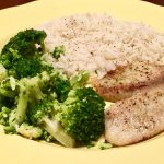 Tilapia with Broccoli and Rice – post grad meals