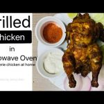 How to grill a full chicken in microwave oven/ Rotisserie chicken at home -  YouTube