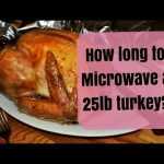 How long to microwave a 25 pound turkey - YouTube