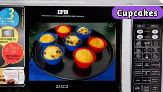 Eggless Cupcakes Recipe In Ifb Microwave Convection Mode - How to make  Eggless Microwave Cupcakes - YouTube