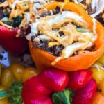Simple Vegan Stuffed Bell Peppers with Tofu and Vegetables - The Little  City Seed