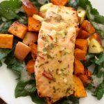 Salmon, Sweet Potato and Apple Roast « Orchard News and Chews