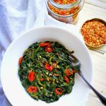 Creamy Spinach & Grilled Cherry Tomatoes. – NIMOH`S KITCHEN