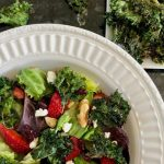 Maple Balsamic Kale Chip Salad - Cheerful Choices Food and Nutrition Blog