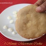1-Minute Eggless Microwave Cookies | Traditionally Modern Food