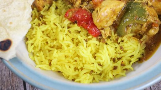 Indian Pilau Rice - cooked in less than 10 minutes in your microwave oven