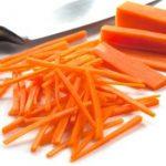 Steamed and julienned carrot sticks - Kidspot