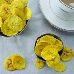 4 Ingredients, 5 Minutes Microwave Plantain Chips