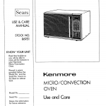 KENMORE MICROWAVE OVEN USE AND CARE MANUAL Pdf Download | ManualsLib