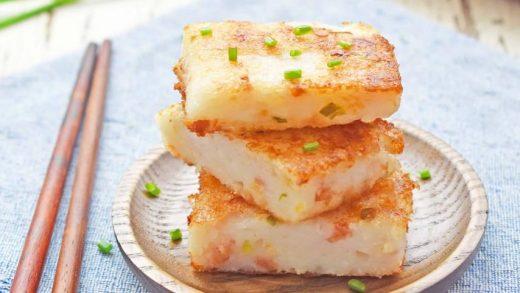 Vietnamese Turnip Cake - Banh Bot Chien (cheat version) - Scruff & Steph