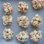 Rainbow Marshmallow Popcorn Balls